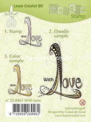 Doodle stempel with Love