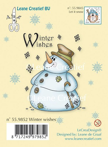 Clear stamp Snowman Winter Wishes