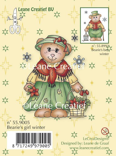Clear stamp Bearie's girl winter