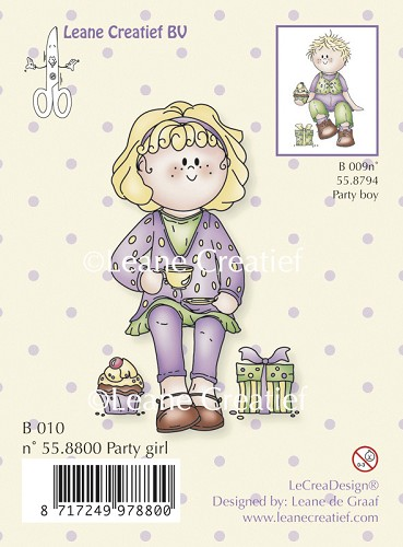 Clear stamp Bambini party girl