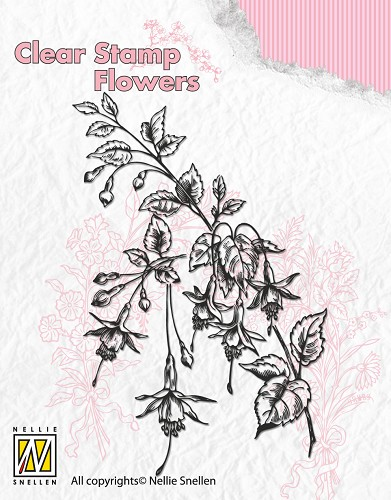 Clear Stamp Flowers - Fuchsia