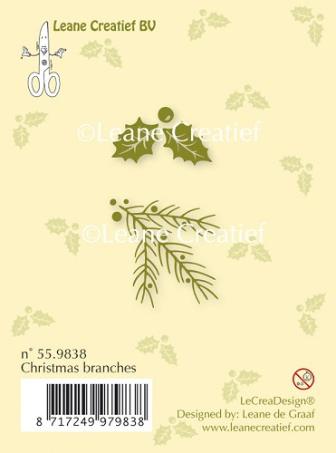 Clear stamp Christmas branches