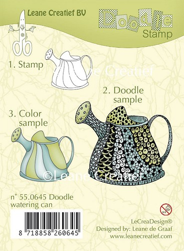 Doodle clear stamp Watering can
