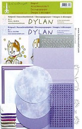 51.3874 Lila  LeCreaDesign® Dylan kaart borduur kits