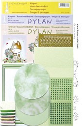 51.3898 Groen  LeCreaDesign® Dylan kaart borduur kits