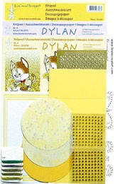 51.3904 Geel  LeCreaDesign® Dylan kaart borduur kits