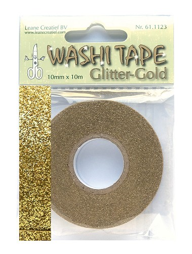 Washi tape glitter gold 10 mm x 10 m