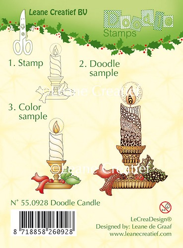Doodle Clear stamp Candle