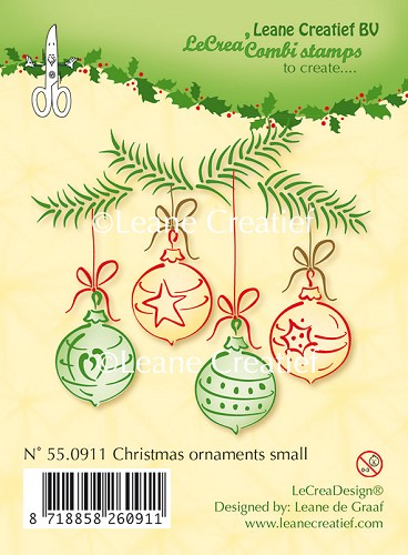 Clear stamp Christmas ornament small