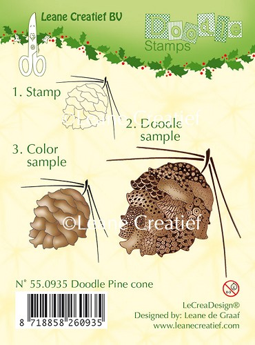 Doodle Clear stamp pine cone