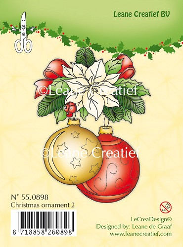 Clear stamp Christmas ornament 2