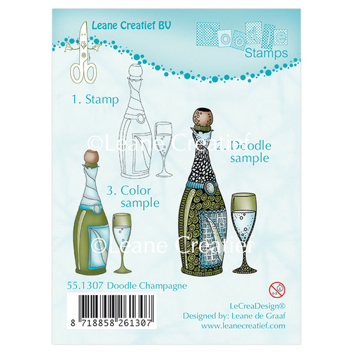 Doodle clear stamp Champagne