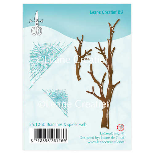 Clear stamp Branches & spider web