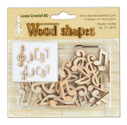 Wood shapes Musical notes