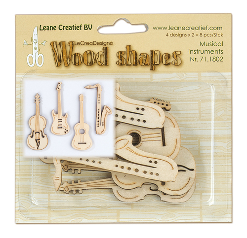 Wood shapes Musical instruments