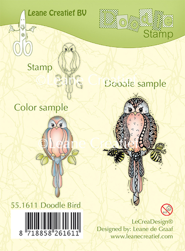 Doodle clear stamp Bird