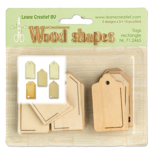 Wood shapes Tags rectangle