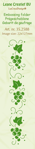 Border embossing folder Grapes 22x127mm