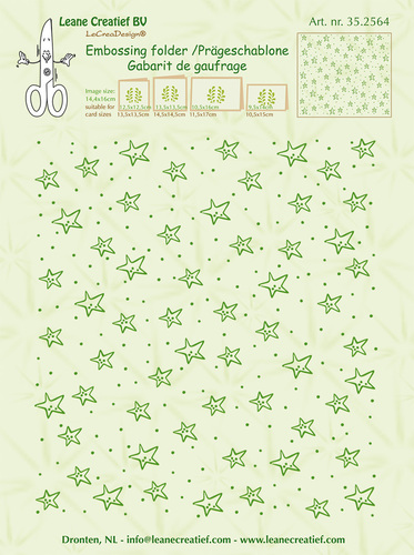 Embossing folder background Stars 14.4x16cm