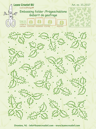 Embossing folder background Leaves 14.4x16cm