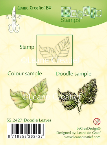 Doodle clear stamp Leaves