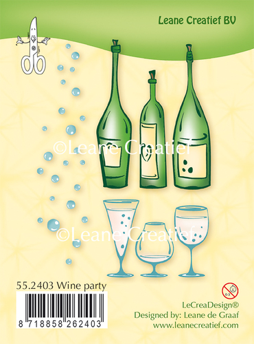 Clear stamp Wine Party