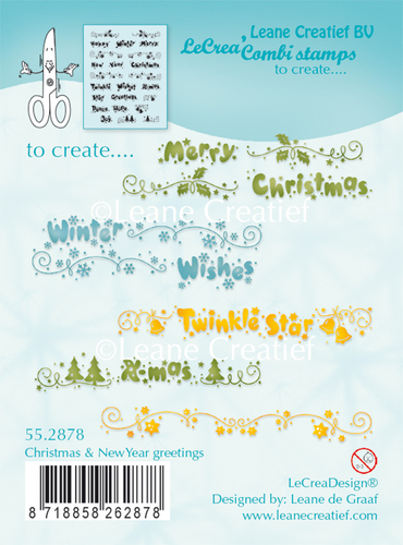Combi clear stamp Christmas & New Year Greetings