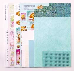 Sticker-Corner-Stitch® kaarten kit 61.5304 Turkoois #22