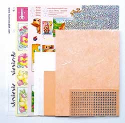 Sticker-Corner-Stitch® kaarten kit  61.5311 Zalm #23
