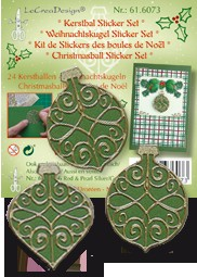 Kerstbal Sticker Set groen 61.6073