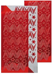 Kerst stickers mirror rood ster 61.6264