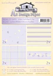 51.6455 LeCreaDesign® papier assortiment lila