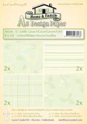 51.6486 LeCreaDesign® papier assortiment groen