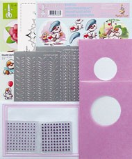 Sticker-V-Stitch pakket nr.9 Roze