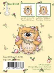 Clearstamp Owlie Pipa at Christmas LCR55.8206